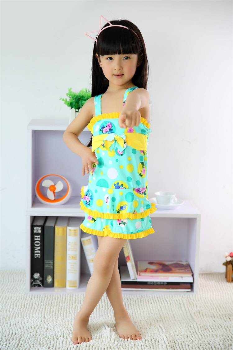 2015 Summer Kids Girls Swimwear Rapunzel Swimsuit girls ...