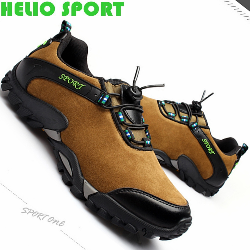 2015 men's hiking shoes outdoor climbing breathable genuine leather slip resistant hiking shoes men