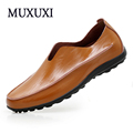 Top brand genuine leather casual shoes High quality men cow suede loafers soft breathable men comfortable