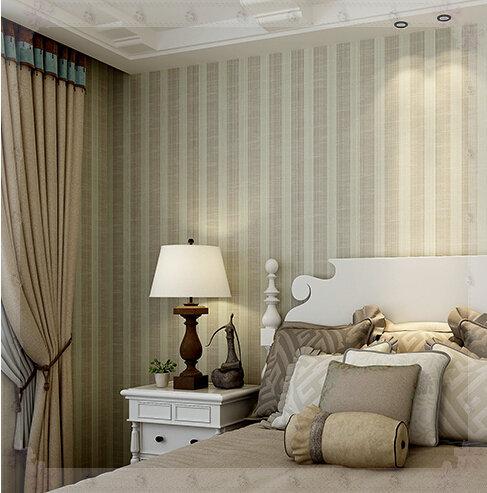 M plain vertical stripe wallpaper roll simple living room for Plain kitchen wallpaper
