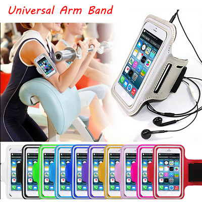 Universal Out Door Brush Cover Gym Case For iPhone 6 Plus Arm Band Accessories Holder For Samsung Galaxy S6 S5 S4 With Key Slot(China (Mainland))