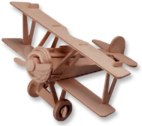 3D Wooden Puzzle Small Biplane Model Albatros Dv Great for Children Educational Puzzle Toy(China (Mainland))