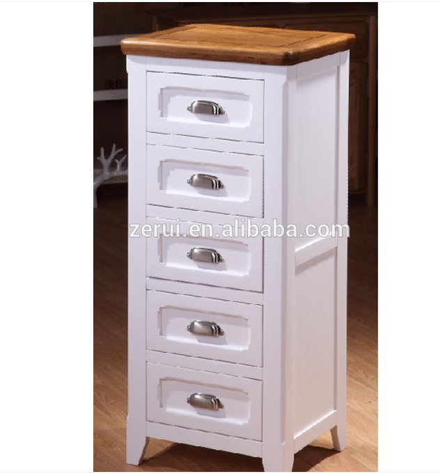 Wooden furniture solid oak tall 5 drawer cabinet/chest(China (Mainland))