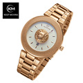 Lion head watch woman rose gold watch KEEP MOVING women top famous Brand Luxury Casual Quartz
