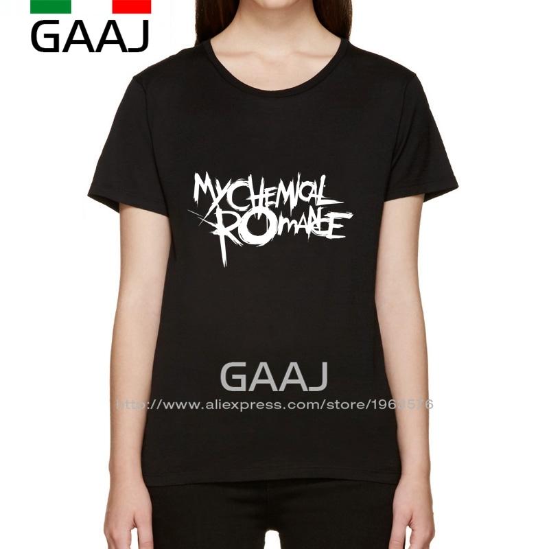 My Chemical Romance T Shirt Women Ladies Tops Gothic Rock Band Woman T-Shirt 2016 Shirt Shirts Funny O Neck High Quality Plus Si(China (Mainland))