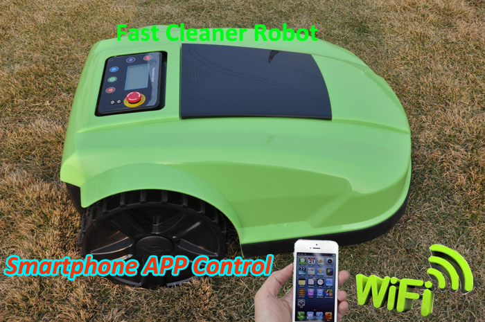 Robot Lawn Mower S520 with Water-proofed Charger+WIFI smartphone control function,Auto Recharge,Schedule(China (Mainland))