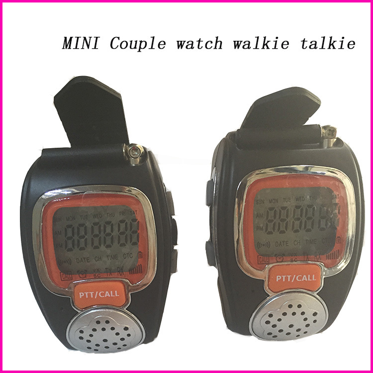 2pcs 22CH Backlit LCD portable radio set Wrist watch two way radio comunicador for kid couple interfone pair Walkie Talkie Watch(China (Mainland))
