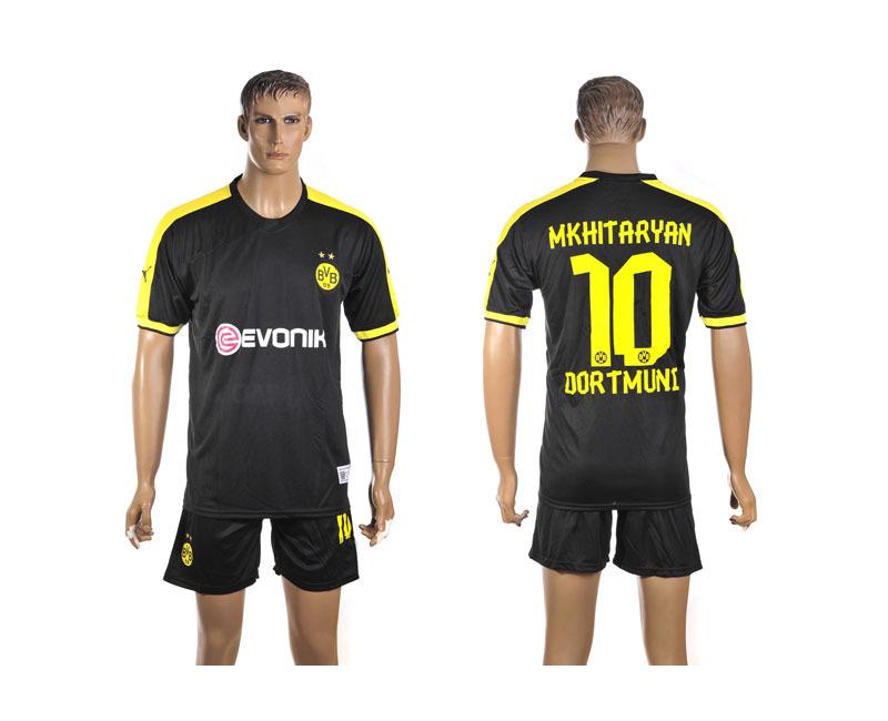 football jerseys wholesale Free Shipping Dortmund away 10 MKHITARYAN black borussia dortmund jersey football jerseys(China (Mainland))