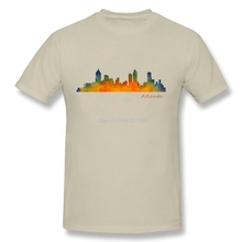 Buy Geek Men Atlanta City Skyline Hq v1 100% Cotton Shirts Man's Crew-Neck Short-Sleeves buy cool t shirts online for $12.19 in AliExpress store