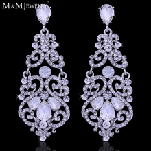 AAA Austrian Glass Crystal White K Plated Gorgeous Wedding Jewelry Bridal Brinco Accessories Fashion Earrings for Women EH373(China (Mainland))