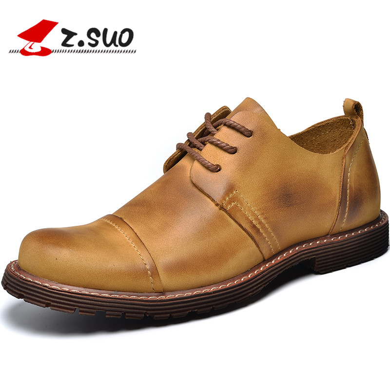2017 New Arrival Genuine Leather Mens Oxfords Shoes Fashion Casual Shoes Men Spring Tide Casual Shoes British Style Male Flats