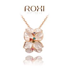 ROXI Delicate necklace plated with AAA zircon fashion rose golden jewelry for women party new style