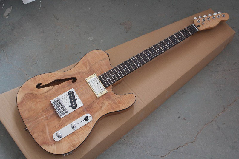 Guitar factory custom Newest arrival Classic '72 TL Semi Hollow Body Natural Electric guitar Free shipping 121(China (Mainland))