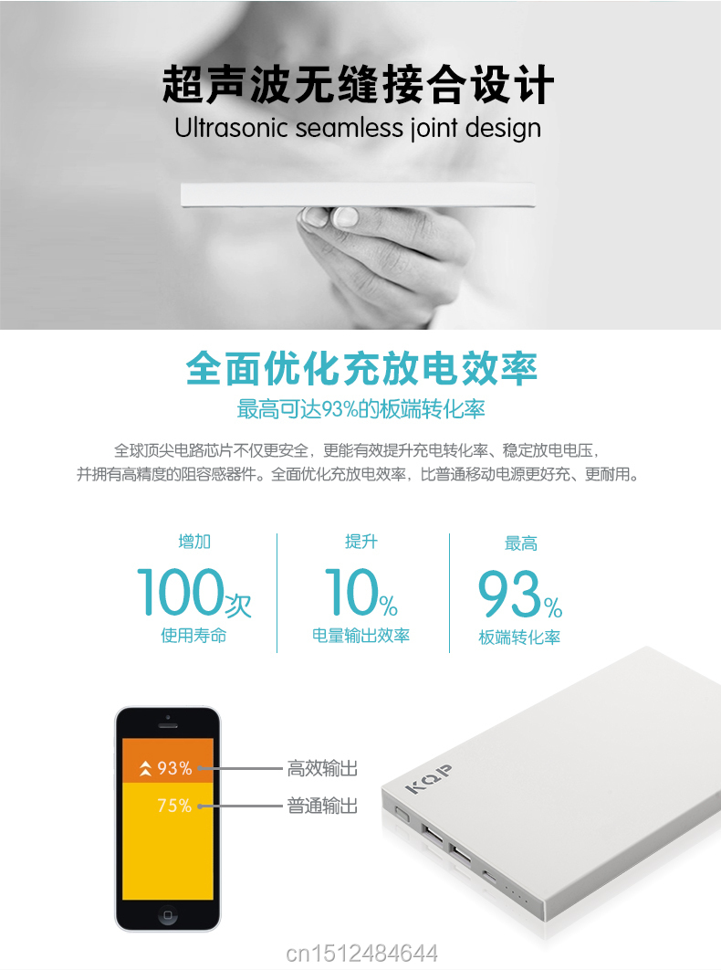 KQP K-68 Universal Mobile Phone External Battery Backup 2 usb port 2A 5V Power Bank 20000mAh Portable Charger For samsung iphone
