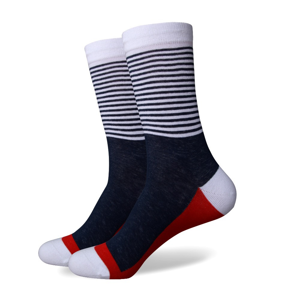 Free Shipping combed cotton brand men socks colorful dress socks 5 pair lot