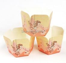 50 pcs / lot Disposable Muffin Cups DIY Baking Cupcake Packing Paper Boxes 6.5 * 3 * 4 cm(China (Mainland))