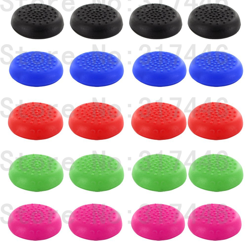 4pieces/lot Controller Analog Grips Thumbstick Cover For Sony Playstation 4 PS4 Controller 5 Colors(China (Mainland))