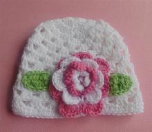 Sweet Flower Crochet Beanie Knitted Cap Hat Newborn Baby Toddlers Girl Warm Handmade Caps Autumn Winter