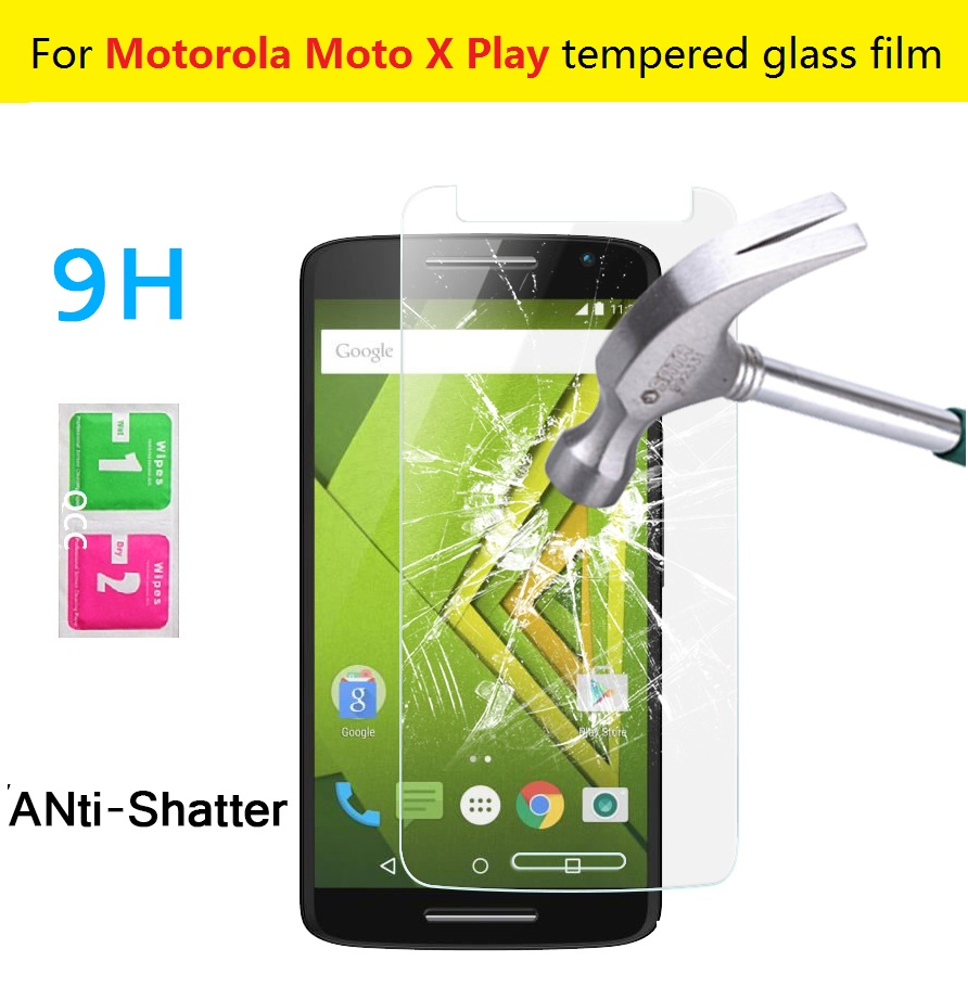 0.3mm 9H 2.5D Explosion-proof Tempered Glass film Motorola Moto X Play 5.5inches Anti-shatter screen protector HD LCD films - X'MAS GIFT STORE store