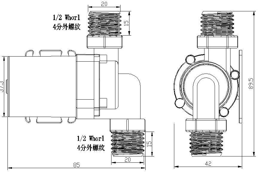 solar dc water pump 12v 24v electric water circulation pump brushless motor pump