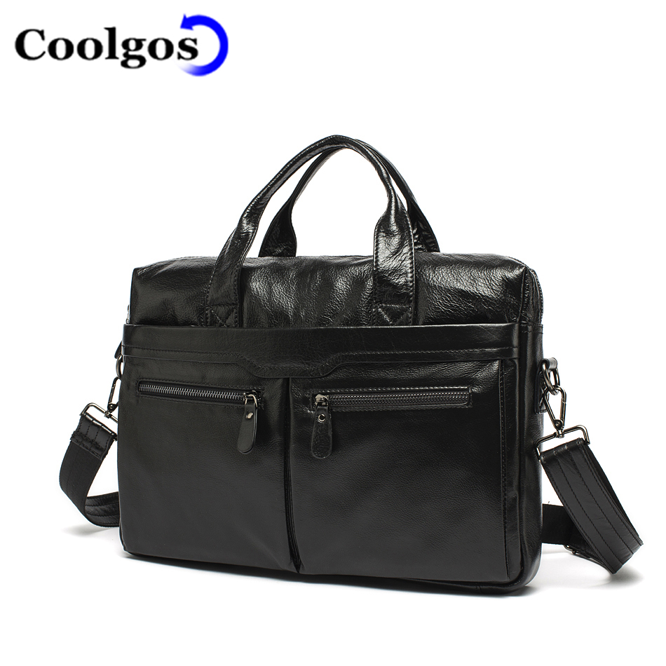 FASHION 100% Genuine Cowhide Leather Causal Men Bags Real Leather Briefcase Business Laptop Bag Briefcases Bag Handbag(China (Mainland))