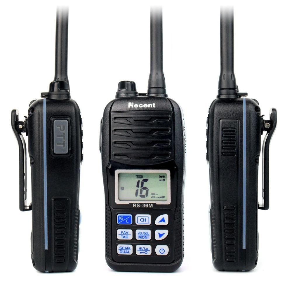 100% NEW Professional VHF Marine Handheld Transceiver RS-36M WaterProof IP-X7 80 Channels Two Way Radio(China (Mainland))