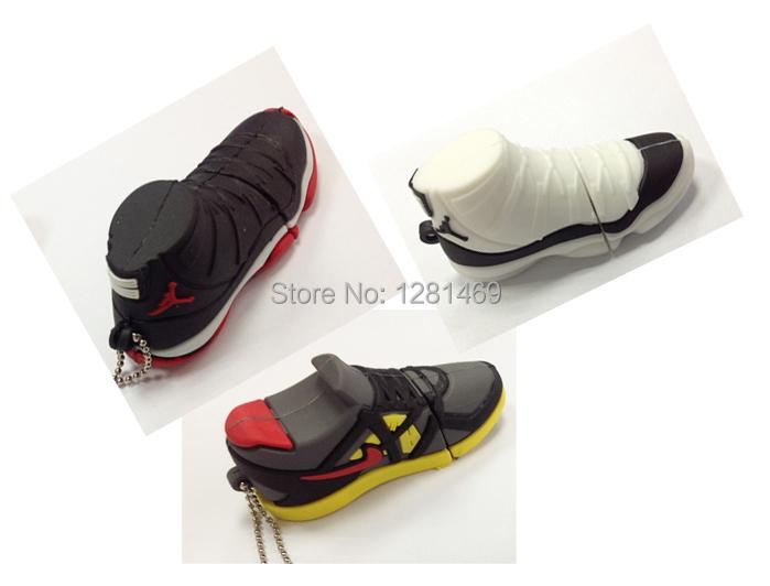 mix Flash USB Drives novelty sneaker sport shoe pen drive memory stick u disk external storage pendrive 4GB 8GB16GB bulk cheap(China (Mainland))