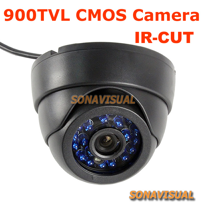 "NEW! 900tvl 1/4"" CMOS Color Image Home Security CCTV Camera With IR-CUT filter 24 IR Leds Night VisionDome Surveillance Camera(China (Mainland))"