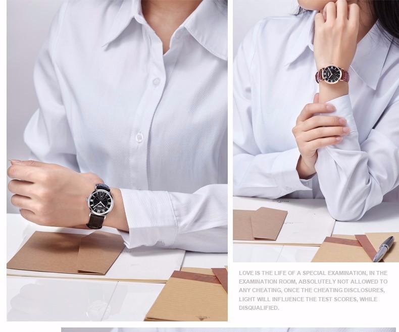 DOM 2016 Пара Водонепроницаемый Повседневная Часы Мода Марка Мужчины Женщины Кожа Часы Мода Montre Femme Де Марка Кварцевые Часы Класса Люкс