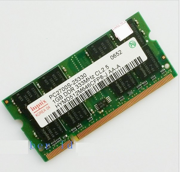 Hynix ddr1 1GB 2GB PC2700 DDR333 200PIN SODIMM Laptop MEMORY 1G 200-pin SO-DIMM RAM DDR Laptop Notebook MEMORY Free Shipping(China (Mainland))