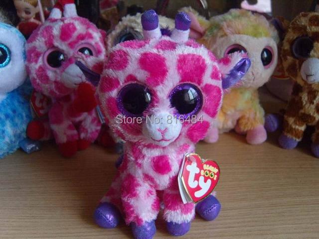 Номера шапочка боос коллекция шапочки плюшевых игрушек материал большие глаза куклы розовый жираф 6 дюймов ветки