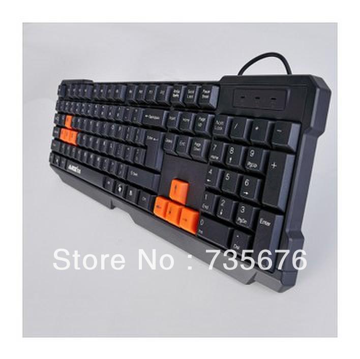 Free shipping professional computer keyboard ergonomics keyboard multimedia wired USB keyboard(China (Mainland))