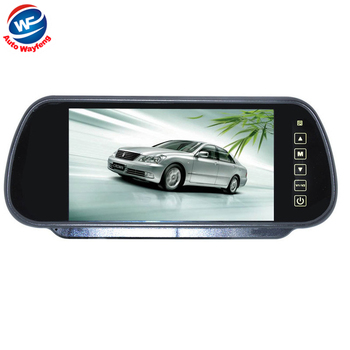 Free shipping Wholesale 7 inch Color TFT LCD Car Rearview Monitor Car Rearview Mirror Factory Selling