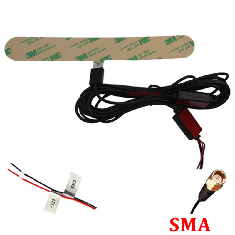 IEC / SMA / F/MCX connector ISDB-T Digital Car TV Active Antenna with Amplifier special for Japan and Brazil+Free shipping !!!<br><br>Aliexpress