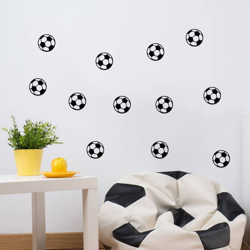 The new football carved backdrop bedroom kids room sticker wholesale trade waterproof PVC removable wall stickers living room(China (Mainland))