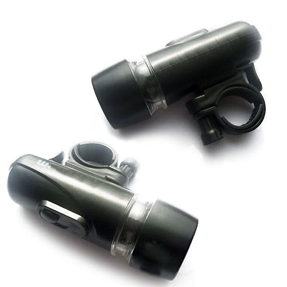 LY4# Stainless Steel Black 5 LED Flashlight Bike Bicycle Torch Flash Light new(China (Mainland))