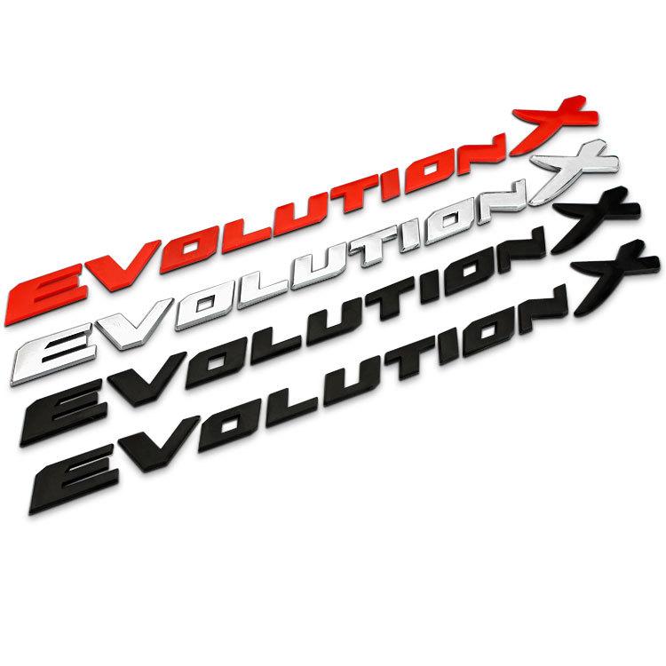 Decal Sticker stickers Back Logo Evolution X For MITSUBISHI Lancer ... Mitsubishi Lancer Logo Decal