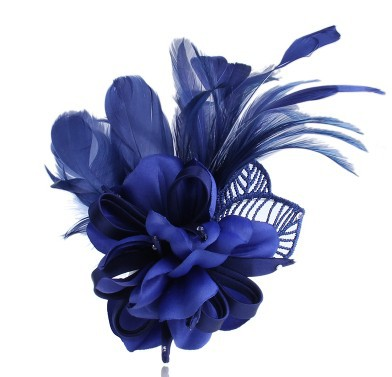 Fashion vintage feather hairpin hair accessory dual handmade fabric of broken flower pin corsage brooch(China (Mainland))