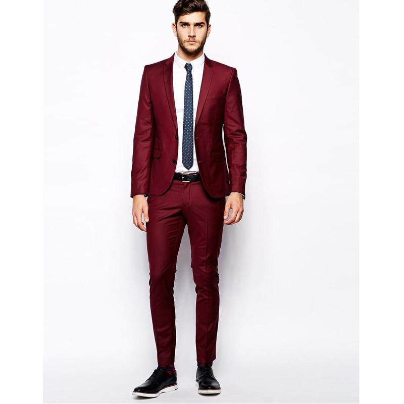 Online Buy Wholesale dark red men blazer from China dark red men ...