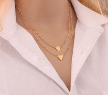 Bohemian Geometric Punk Metal Chains Bar Double Triangle Geo Choker Necklace Collier For Women 2015 Jewelry Accessories