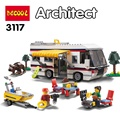 DECOOL 3117 City Creator 3 in 1 Vacation Getaways Building Blocks Bricks Kids Model Toys Marvel