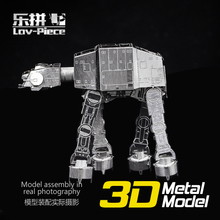 Puzzle toys Star Wars Model Building Kits 3D Scale Models DIY Metallic Nano Puzzle Toys pazzle Toys for Children Free Shipping(China (Mainland))
