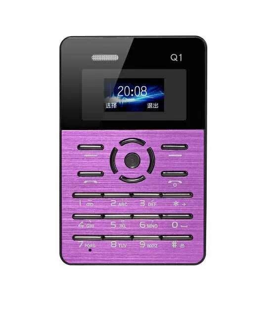 On Sale Original Qmart Q1 Quad Band Pocket Card Children Student kids Mobile Cell Phone MP3 FM Russian Ultra-thin AIEK MOOC L#(Hong Kong)