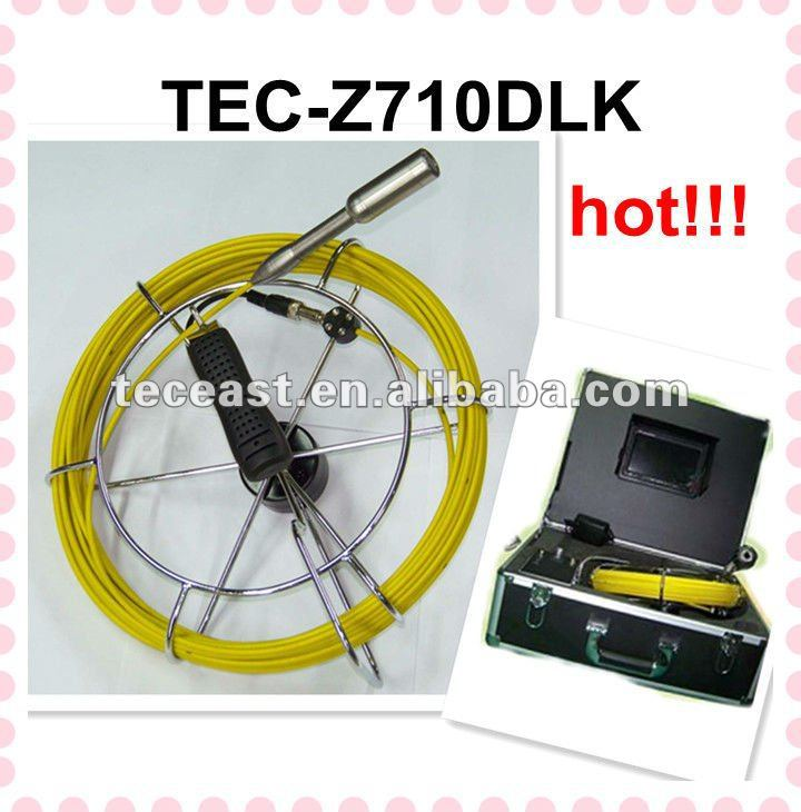 Most popular!! Snake Camera Pipe and Wall Inspection Z710DLK with DVR,512Hz transmitter,Keyboard(China (Mainland))