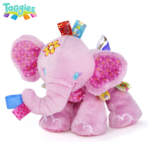 Holiday Promotion Taggies Tag 'N Play Pals Pink Elephant Baby Animal Soft Stuffed Plush Doll Puppets Girl Birthday Gift Toys - Super Supplier 2013 store