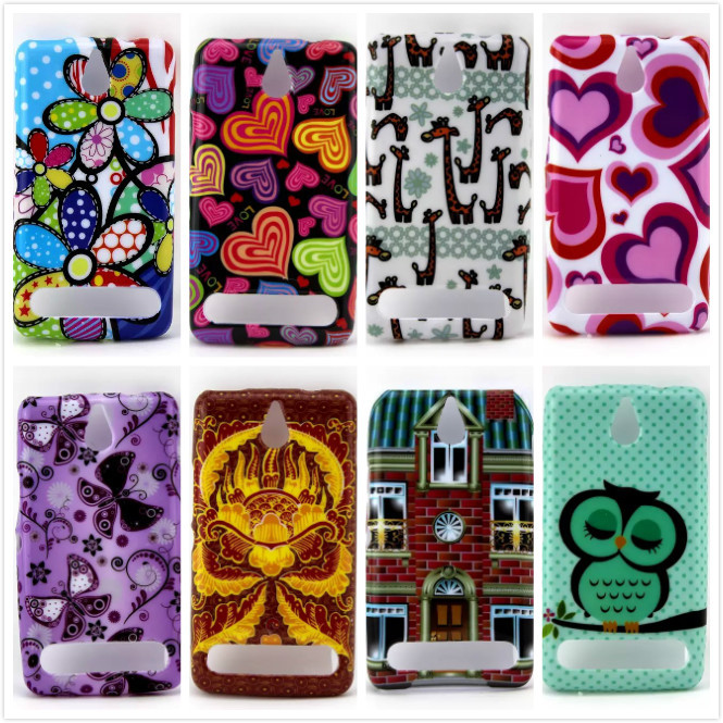 Cute Owl Flower Butterfly Soft TPU Rubber Skin Case Cover for Sony Xperia E1 D2004 D2005 E1 Dual D2104 D2114 D2105(China (Mainland))