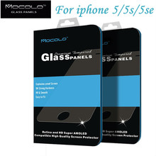 Free shipping Original brand For Iphone 5 5S 5SE mocolo tempered glass screen Protector Film for iphone 5 5S 5se Glass 0.33mm