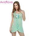 Avidlove Women Sexy Lingerie Halter Lace Strap Mini Dress Underwear Chemise Babydoll Lingerie Set G string