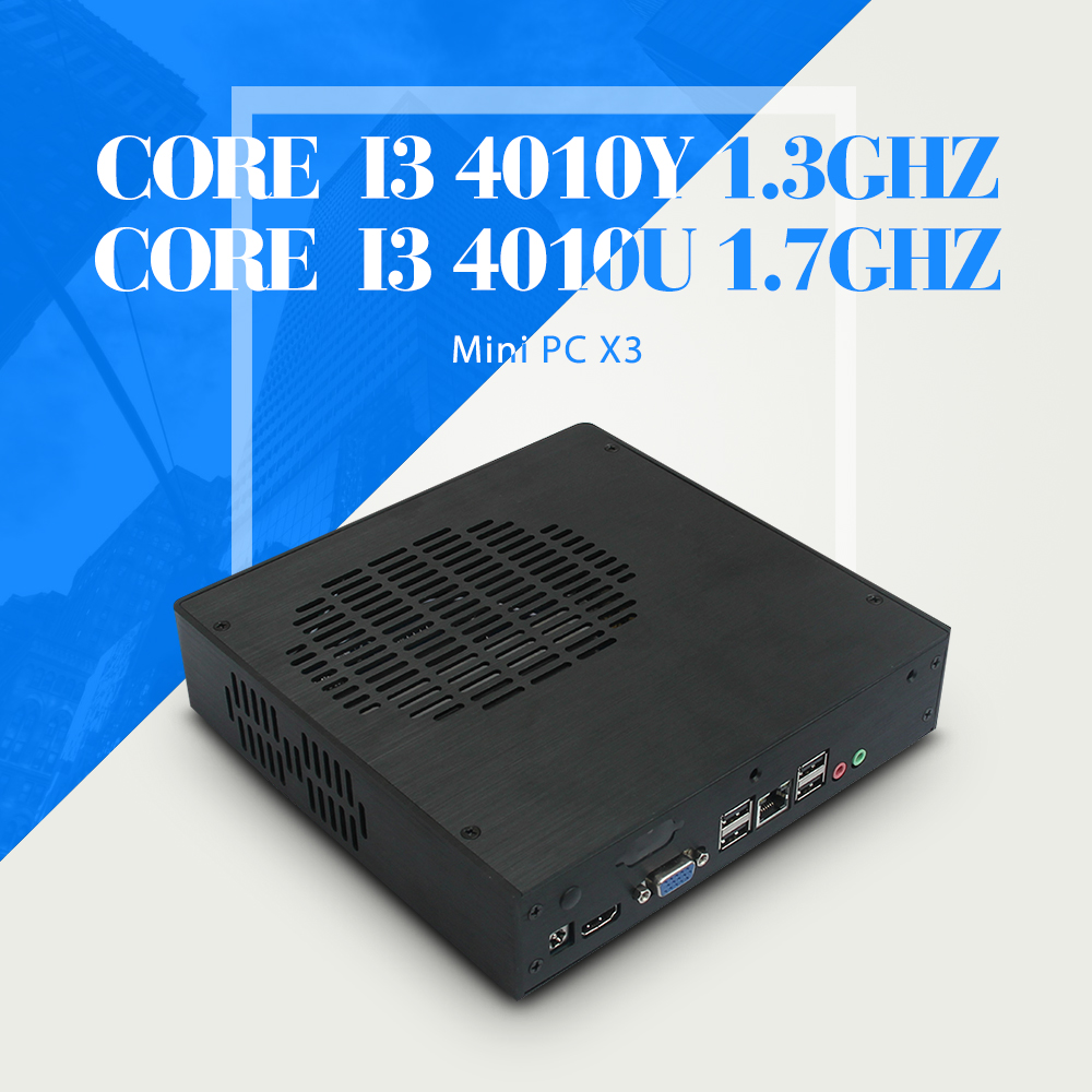 Mini PC I3 4010U I3 4010Y wifi 6*USB 8G RAM 128G SSD WIFI Thin Client Mini Fanless PC Support Linux OS Ubuntu(China (Mainland))