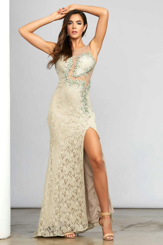 Vestidos De Fiesta 2015 Long Lace Evening Dress Elegant